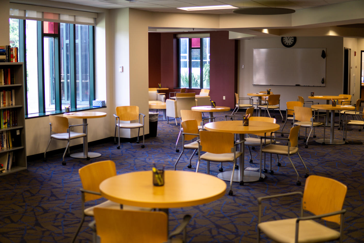 The study space of the Pan-American Life Success Center is open to all students and allows for tripled capacity for shared tutoring, study, and testing, compared to the library's previous study spaces, according to an email from the Student Success Center. Photo credit: Jacob Meyer
