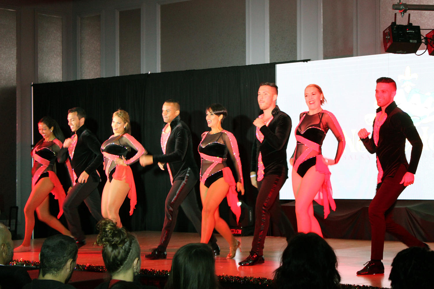Group Casa Salsa from Fort Lauderdale, Florida performs during the Salsa and Bachata Festival. Latin dancers from around the country performed and lead dance workshops at the festival.
