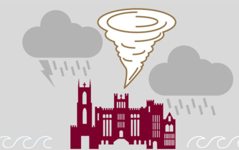 Loyola has implemented a severe weather policy requiring students and professors to continue coursework during campus evacuations and severe weather days. Photo credit: Andres Fuentes