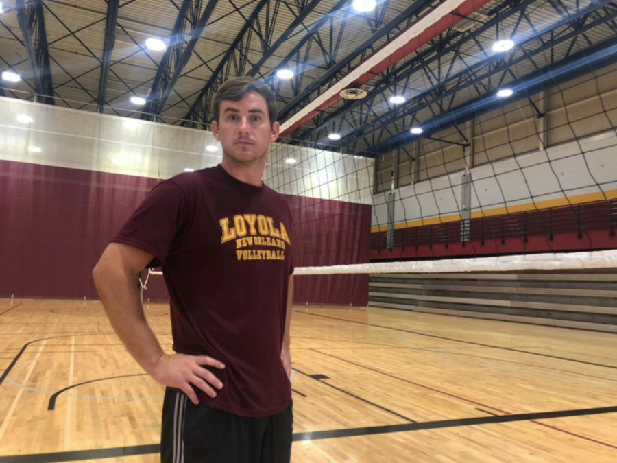 Assistant+Coach+Robert+Pitre+joins+the+volleyball+team+for+the+first++season.+Pitre+has+previous+experience+at+both+16-year-old-club+volleyball+and+at+Northwest+Christian+University+in+Eugene%2C+Oregon%2C+where+he+worked+as+an+assistant+coach+for+a+team+that+the+school+record+for+conference+wins.+Photo+credit%3A+Rosha%27E+Gibson