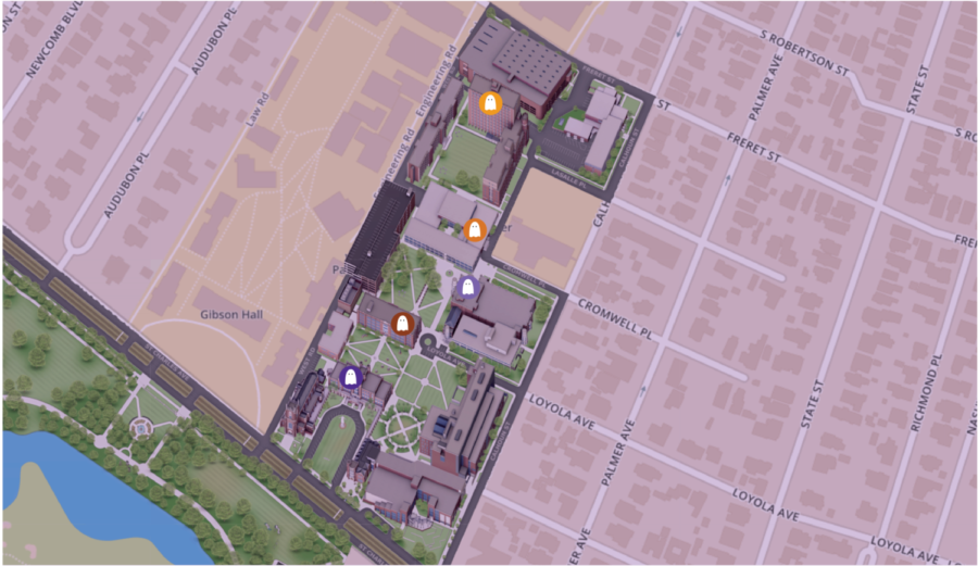 Map+of+the+spookiest+places+on+campus.+Photo+credit%3A+Ariel+Landry