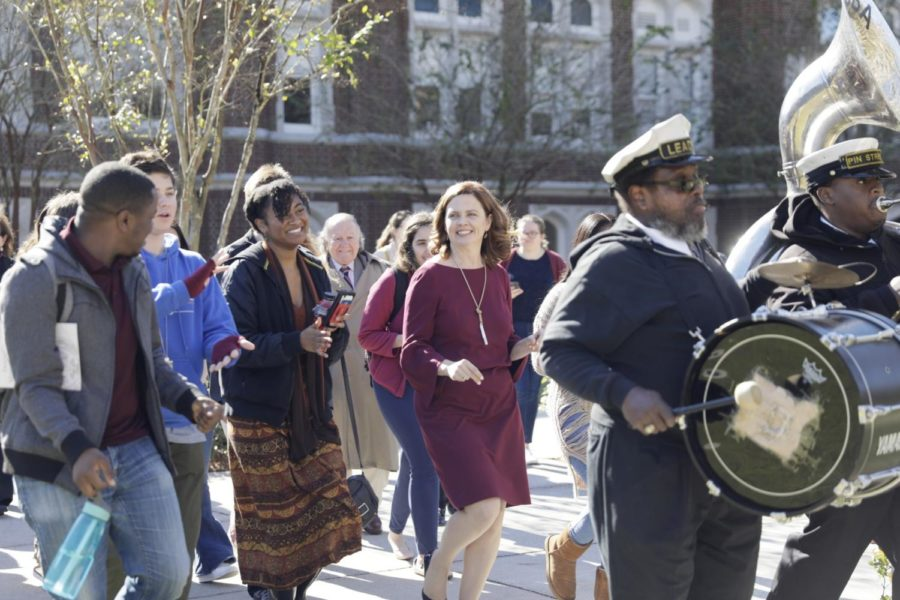 A second line procession leads the exit of Missioning Mass. Photo credit: Cristian Orellana