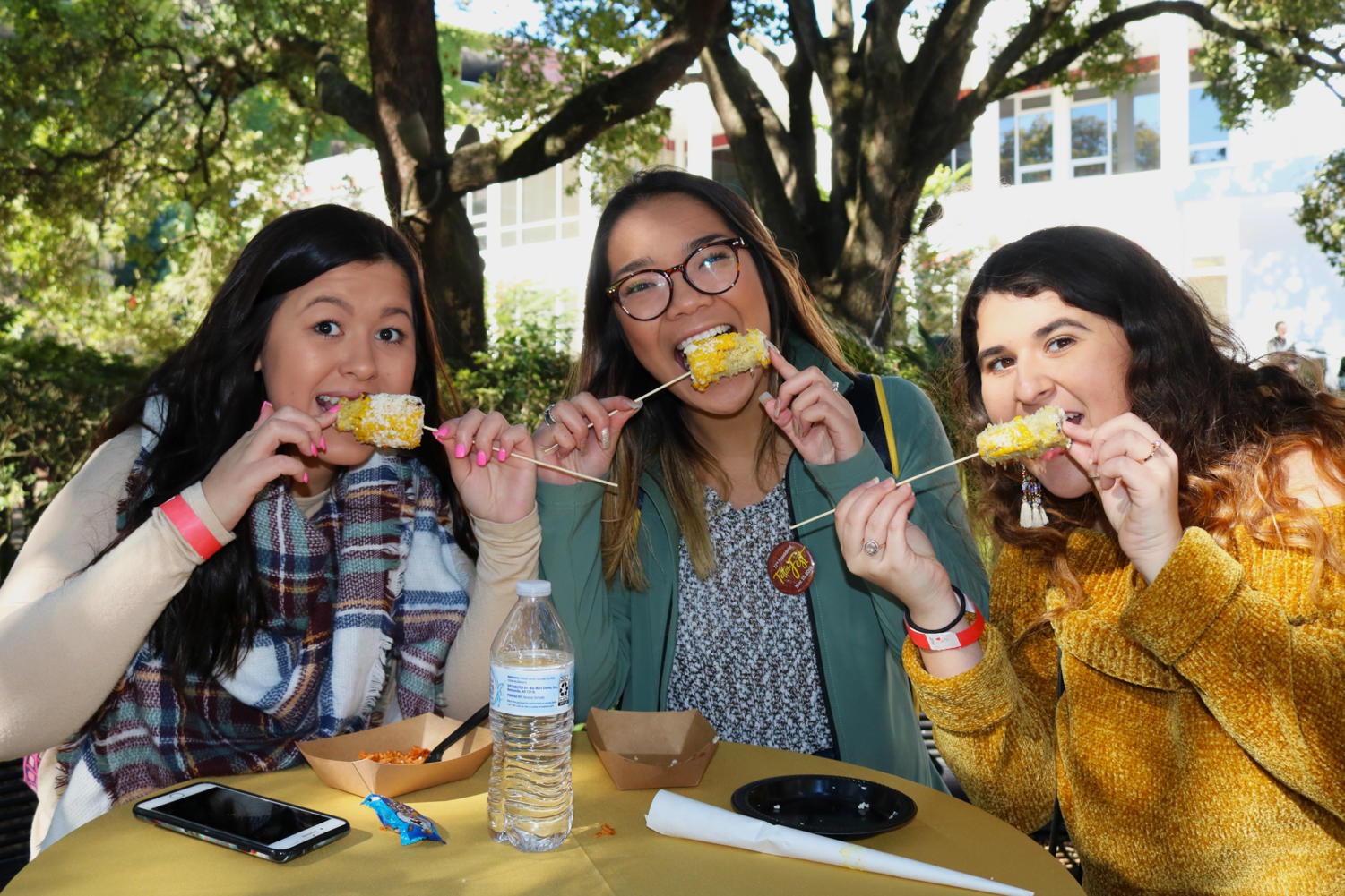 Students eating some of President Tetlow's favorite foods at the Tetlow Fest on Nov. 15 2018. Photo credit: Sidney Ovrom