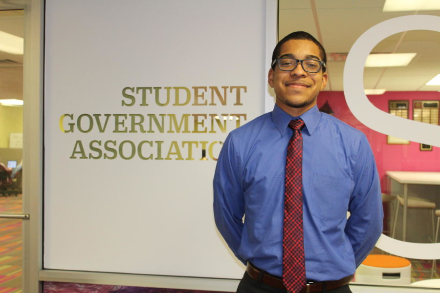 The new SGA Chief of Staff, Derrick Ransom II. Photo credit: Hannah Renton