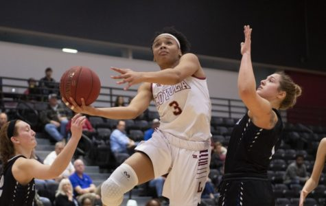 Freshman Tay Cannon led the way off the bench. Cannon led the bench with nine points and also recorded four rebounds. Photo credit: Loyola New Orleans Athletics