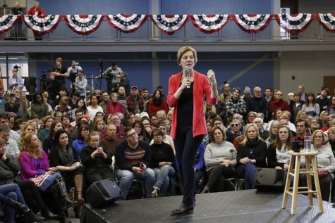Sen. Elizabeth Warren, D-Mass., speaks during an organizing event at Manchester Community College in Manchester, N.H., Saturday, Jan.12, 2019. (AP Photo/Michael Dwyer)