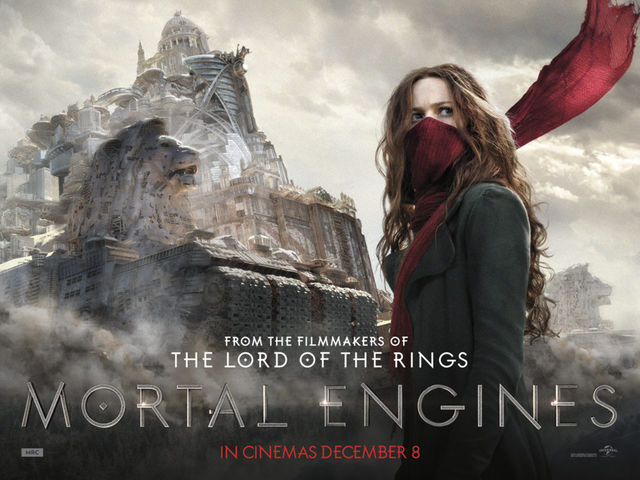 Movie poster of Mortal Engines.