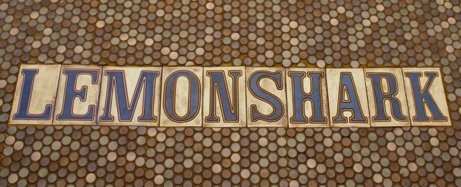 The LemonShark street tiles greet customers at the door with an authentic New Orleans vibe. Photo credit: Madison Mcloughlin