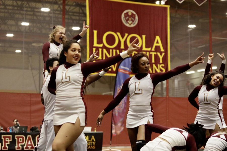 Loyola cheer and dance regionals