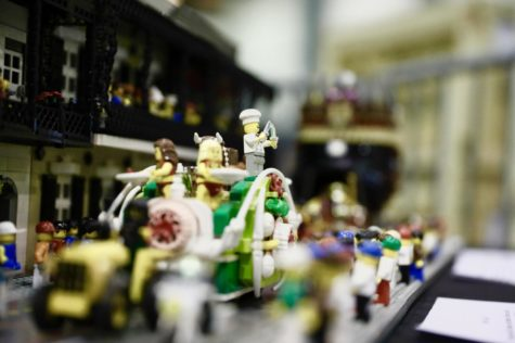 Paul Hetherington created a Mardi Gras set completely out of LEGO pieces. Photo credit: Andres Fuentes
