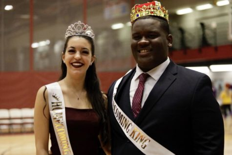 Psychology sophomore Sofia Rabassa and sociology freshman Darell Honora Jr. were named the 2019 Homecoming king and queen. Rabassa is a captain of the dance team and Honor is a member of the cheer team. Photo credit: Michael Bauer