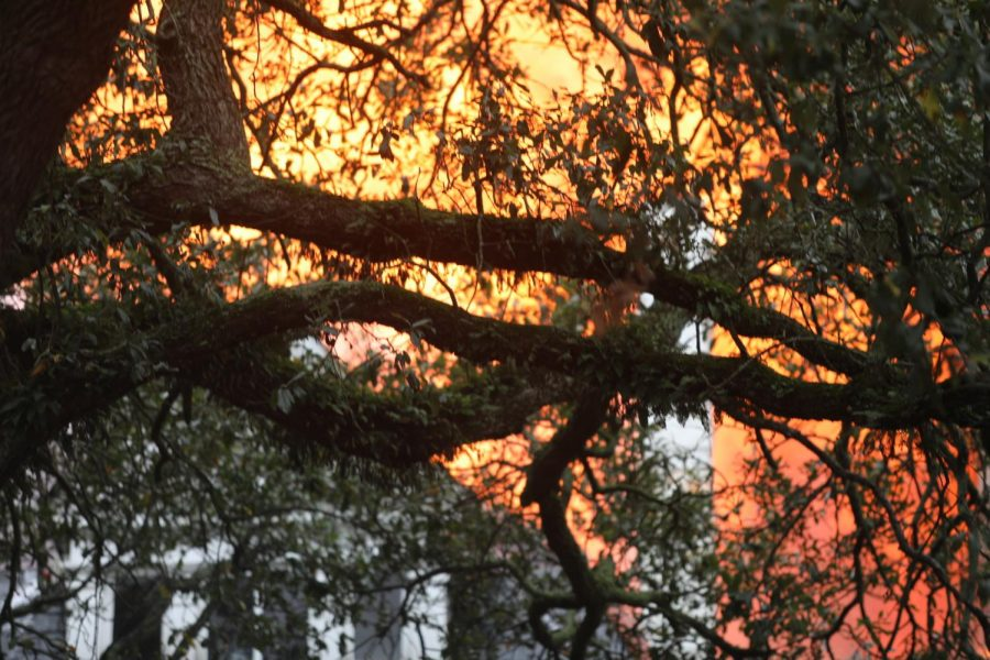 The+fire+at+the+Rex+Mansion+burnt+through+the+roof.+The+blaze+could+have+been+seen+across+New+Orleans+