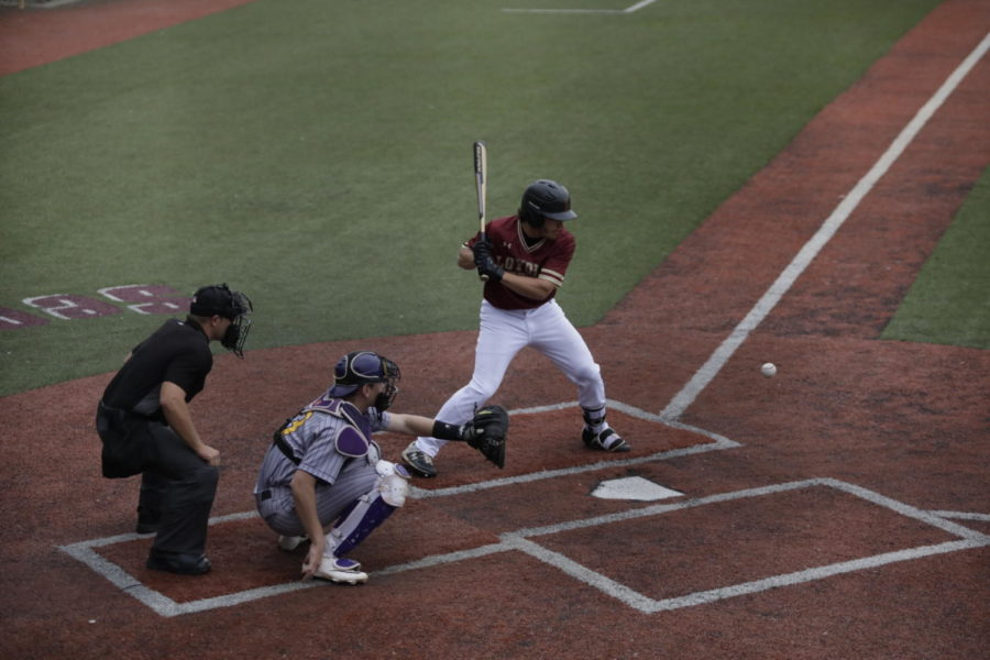 A+Loyola+batter+stands+at-bat+for+a+pitch.+Loyola+won+two%2C+back-to-back+games+against+Freed-Hardeman.+Photo+by+Andres+Fuentes.+