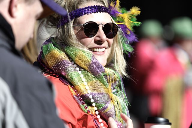 A+woman+waits+on+Canal+Street+for+the+Krewe+of+Zulu+on+Mardi+Gras.+Zulu+kicks+off+the+parades+on+Fat+Tuesday.