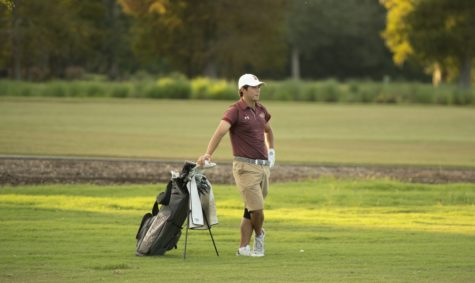 Business senior Philip Nijoka also picked up an individual win at the Wolf Pack Invitational, adding to his medal collection. He shot 73 in the first round and 67 in the second round, earning his first ever weekly conference award. Photo credit: Loyola New Orleans Athletics