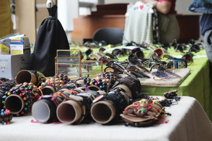 Sunglasses, bracelets, and other accessories were all for sale at Designing Diversity's Diversity Fest, which included a thift store.