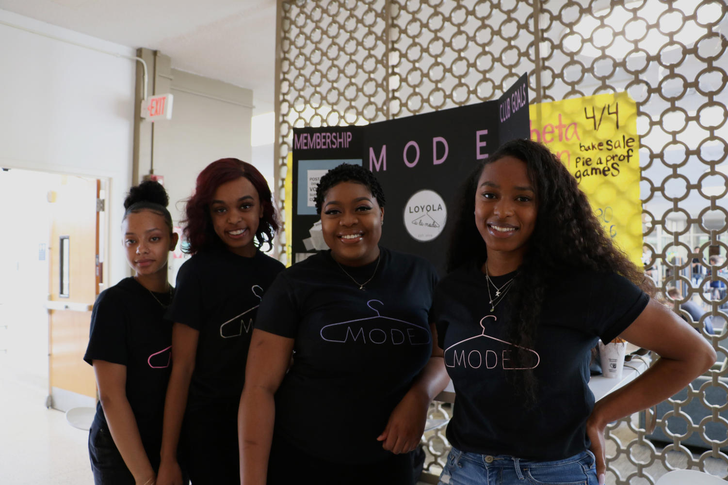 From left to right: Zyon Barbosa Monteiro, Destiny Martin, Bria Permenter, and Kendall Wilson. Photo credit: Hannah Renton