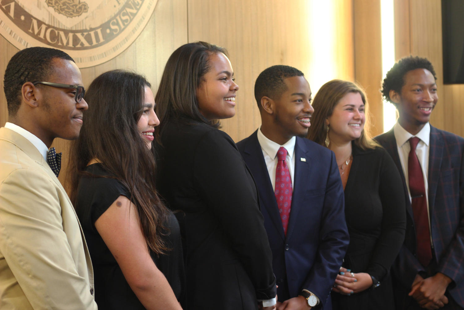 SGA's executive branch is inaugurated in Thomas Hall on April 10th. The administration is still without a Director of Communications for the 2019-2020 school year. Photo credit: Cristian Orellana