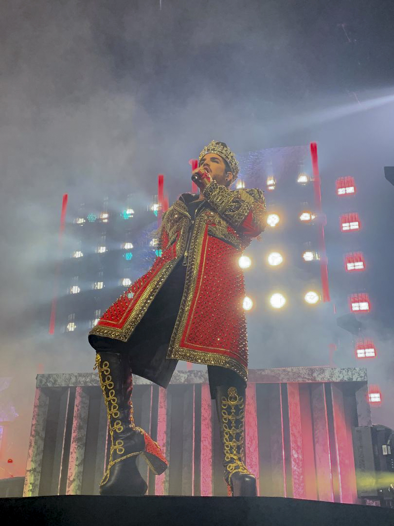 Adam Lambert sings