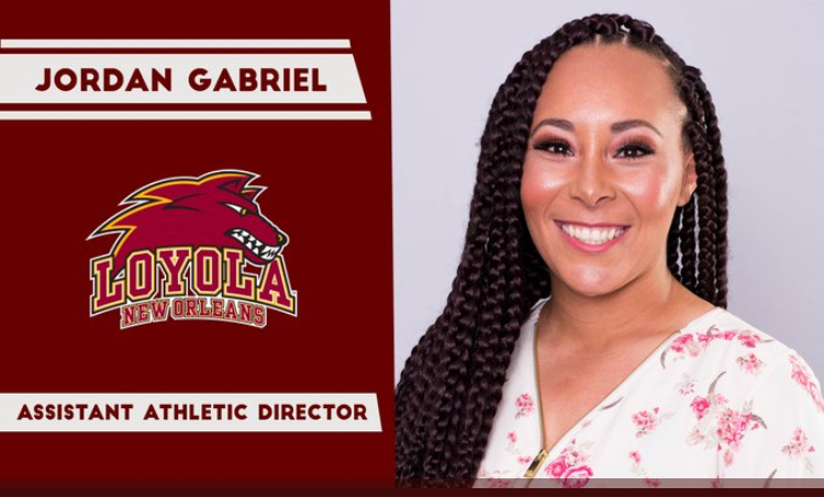 The Athletic Department named Jordan Gabriel as the new Assistant Athletic Director.  Gabriel joins the Wolf Pack from Texas A&M Texarkana.  Courtesy of Loyola Athletics
