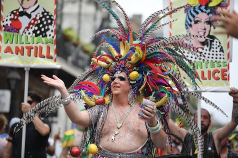 Countess C. Alice leads the 48th annual Southern Decadence parade down Royal Street on September 1, 2019. This year
