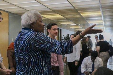 Democratic leader Donna Brazile speaks to students at the College Democrats of America Summer Convention on Sept. 7. The convention was held over the weekend at Tulane.