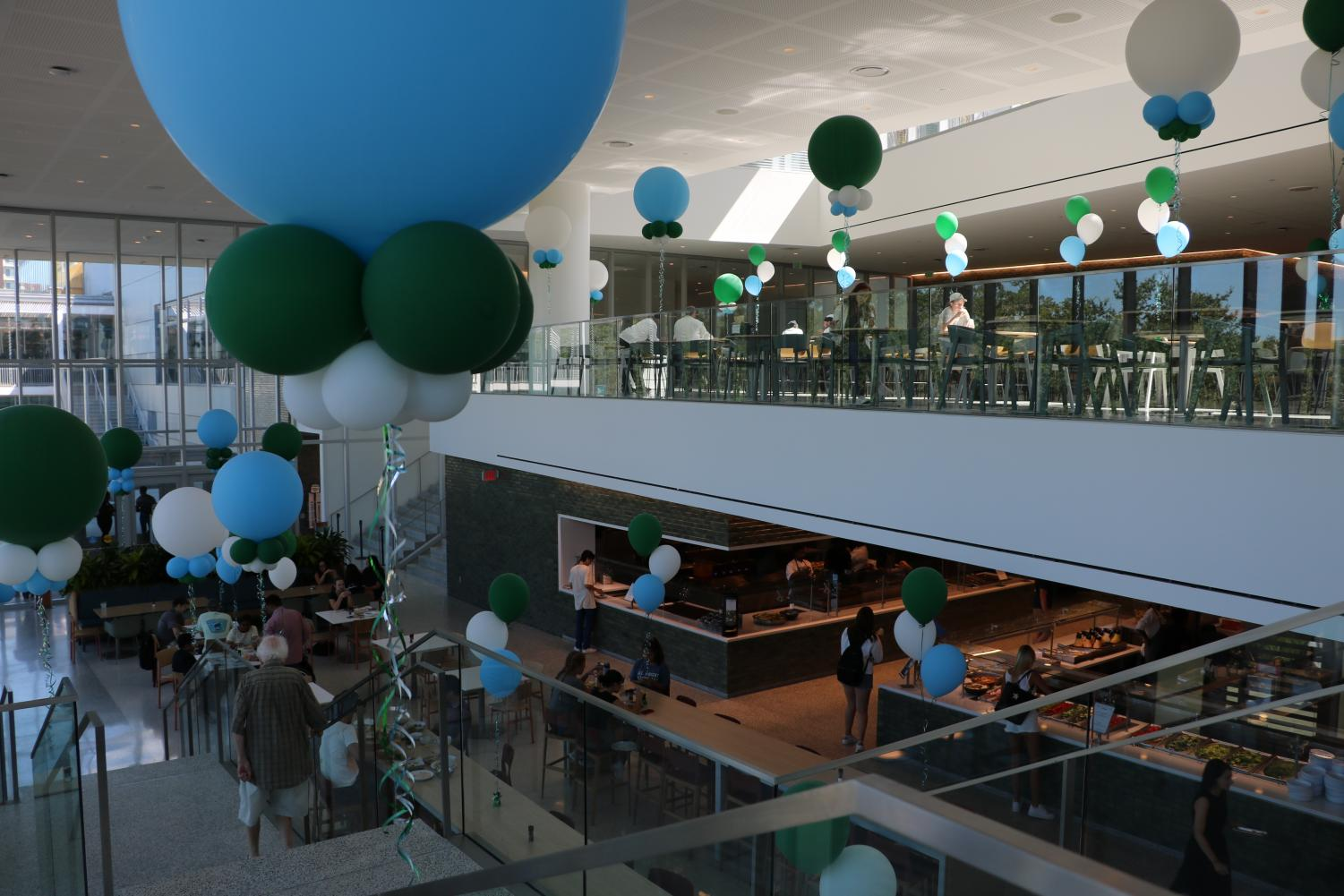 The Tulane Commons opening week. The Commons opened earlier this year and replaced the old dining hall Bruff Commons.