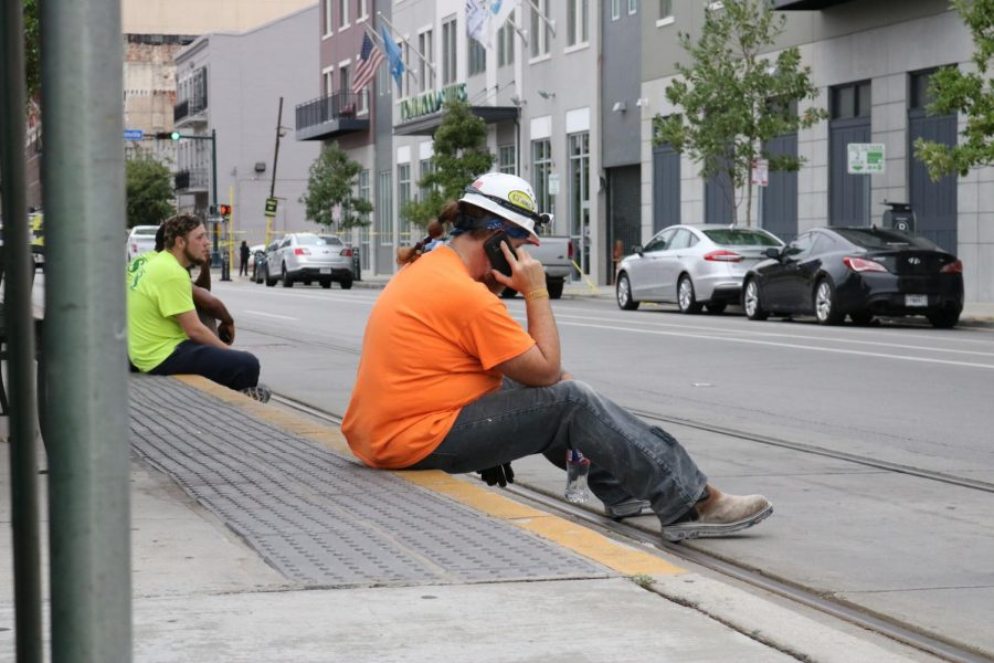 A construction worker calling his loved ones after the Hard Rock Hotel collapsed.