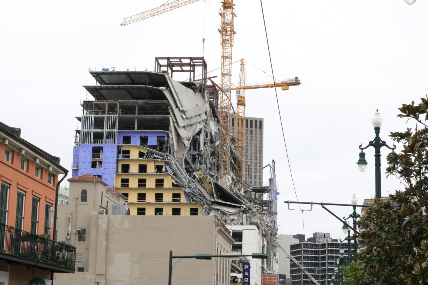 The Hard Rock Hotel collapsed early Saturday morning on October 12, 2019. Photo credit: Andres Fuentes