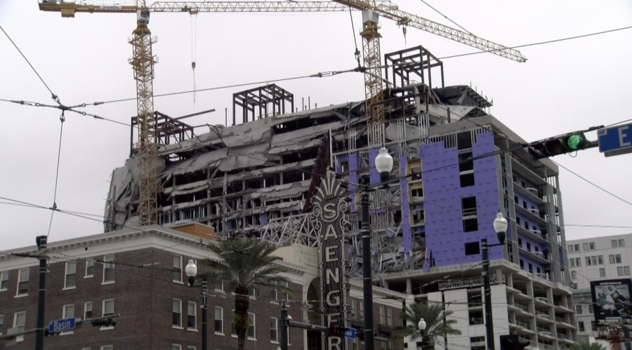Hard+Rock+Hotel+construction+site+in+downtown+New+Orleans+on+Oct.+12.+The+hotel+partially+collapsed+leaving+one+person+dead.+Photo+credit%3A+Lily+Cummings