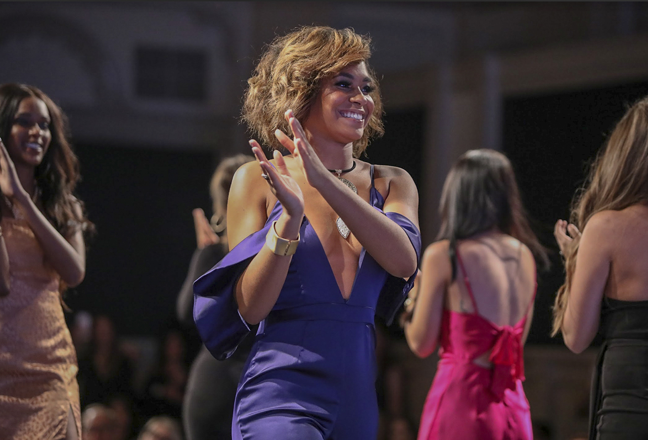 Loyola popular and commercial music senior Kiersten Keller struts down the runway. Fashion Week had three days of runways shows featuring work from almost 50 designers.