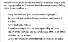 Phishing scams plague student emails