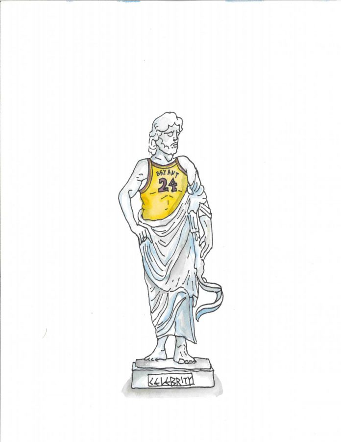 An+illustration+of+a+Greek+god+statue+with+a+%2224%22+jersey+that+says+%22Bryant.%22