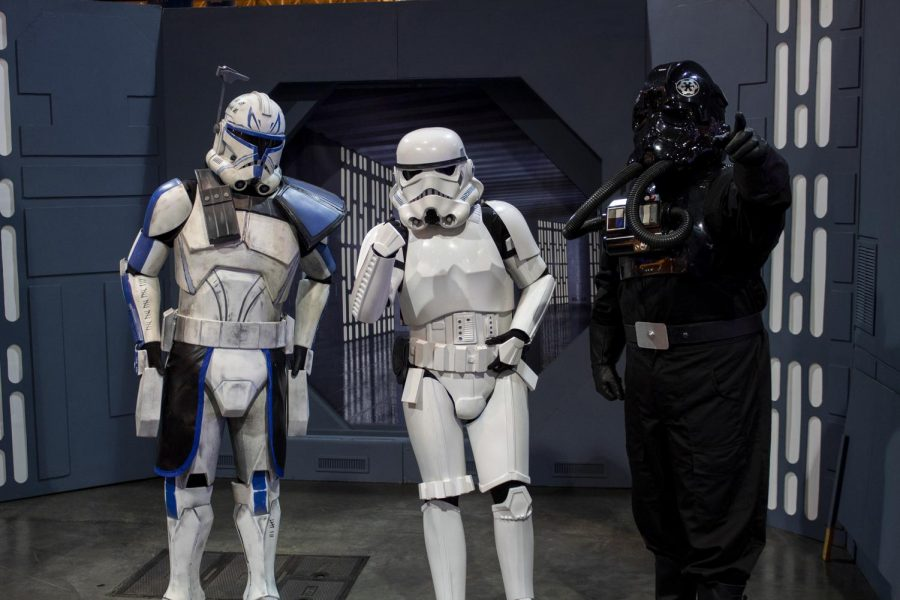 Tristan Tew, Sarah Bachemin and Chad Besse, members of the 501st legion, pose in cosplay at Wizard World Comic Con on Jan 4, 2020. Many cosplayer attended the event.