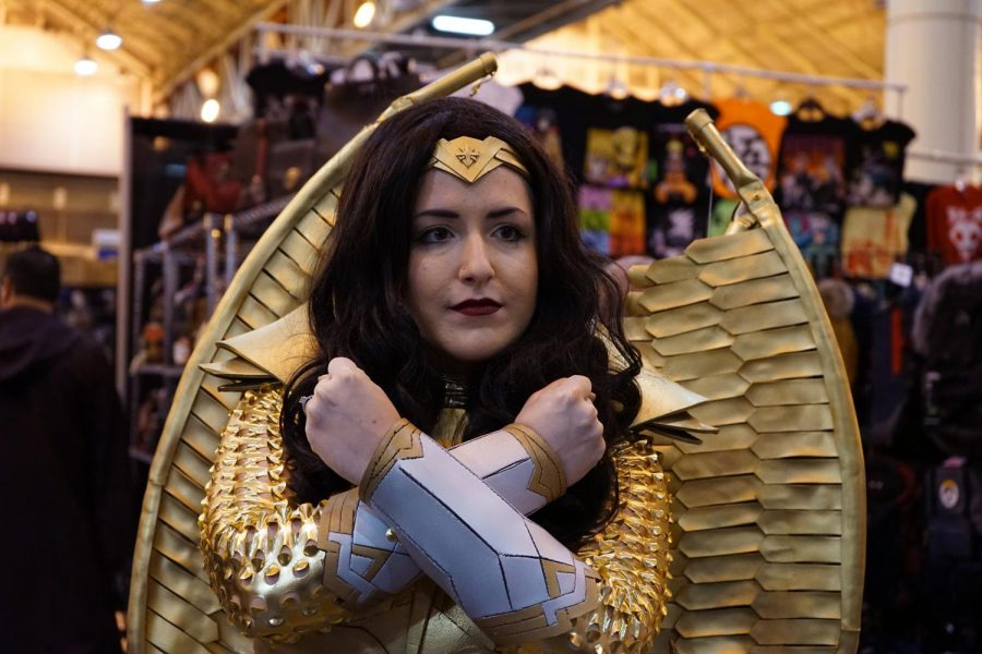 Cosplayer Morgan Duhon poses as Wonder Woman on Jan. 4, 2020 at Wizard World Comic Con. Duhon hand made her costume and based it on the poster for the upcoming Wonder Woman movie.