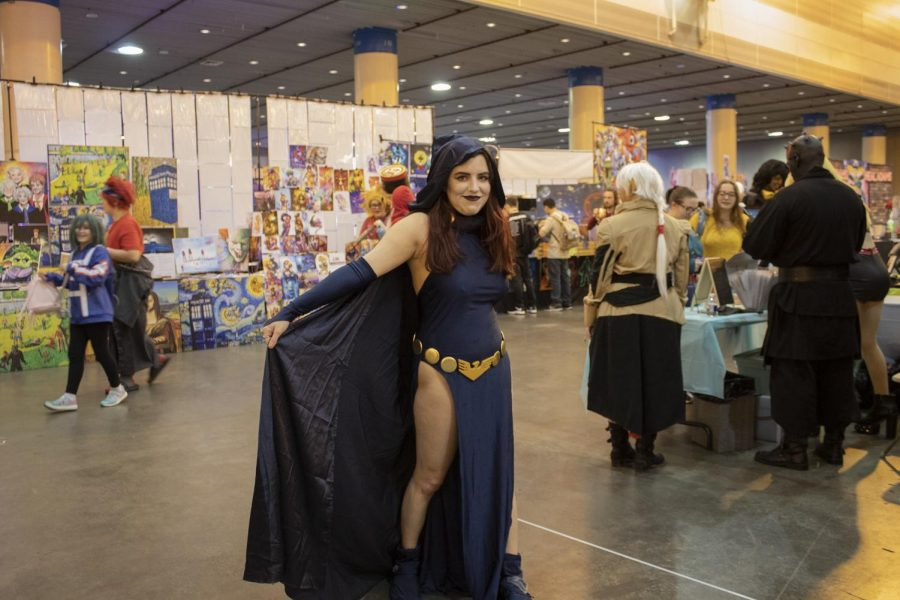 Rebecca Perslgo poses as Raven from Teen Titans on Jan. 4, 2020. Perslgo was one of many attendants on the second day of Wizard World Comic Con.