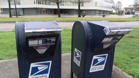 Two mailboxes are taped shut after mail thefts.