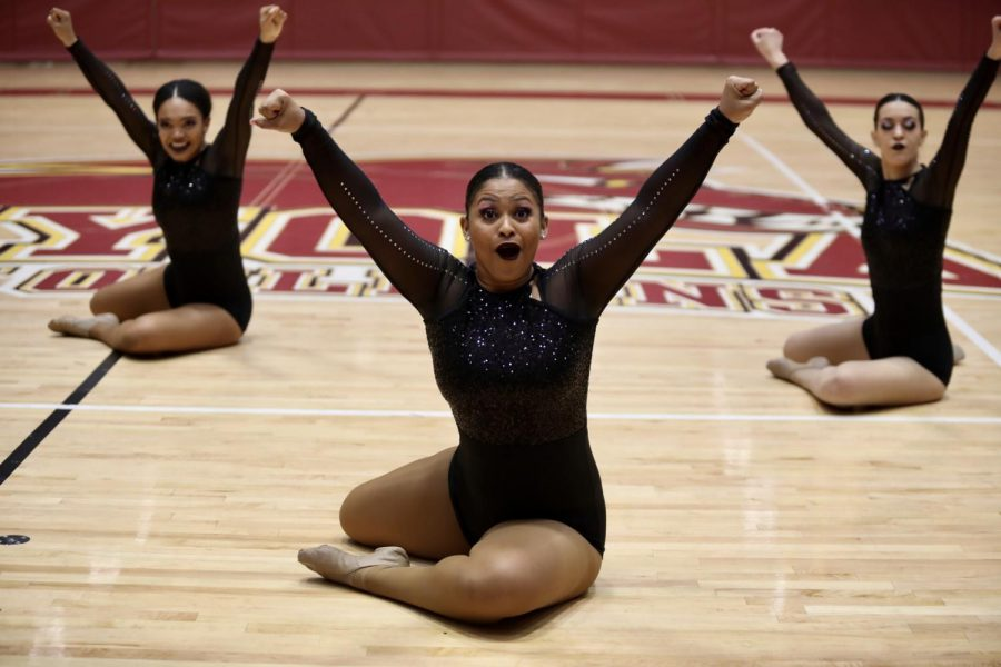 Loyola dance team members perform their conference routine on Feb. 1, 2020. Photo credit: Andres Fuentes