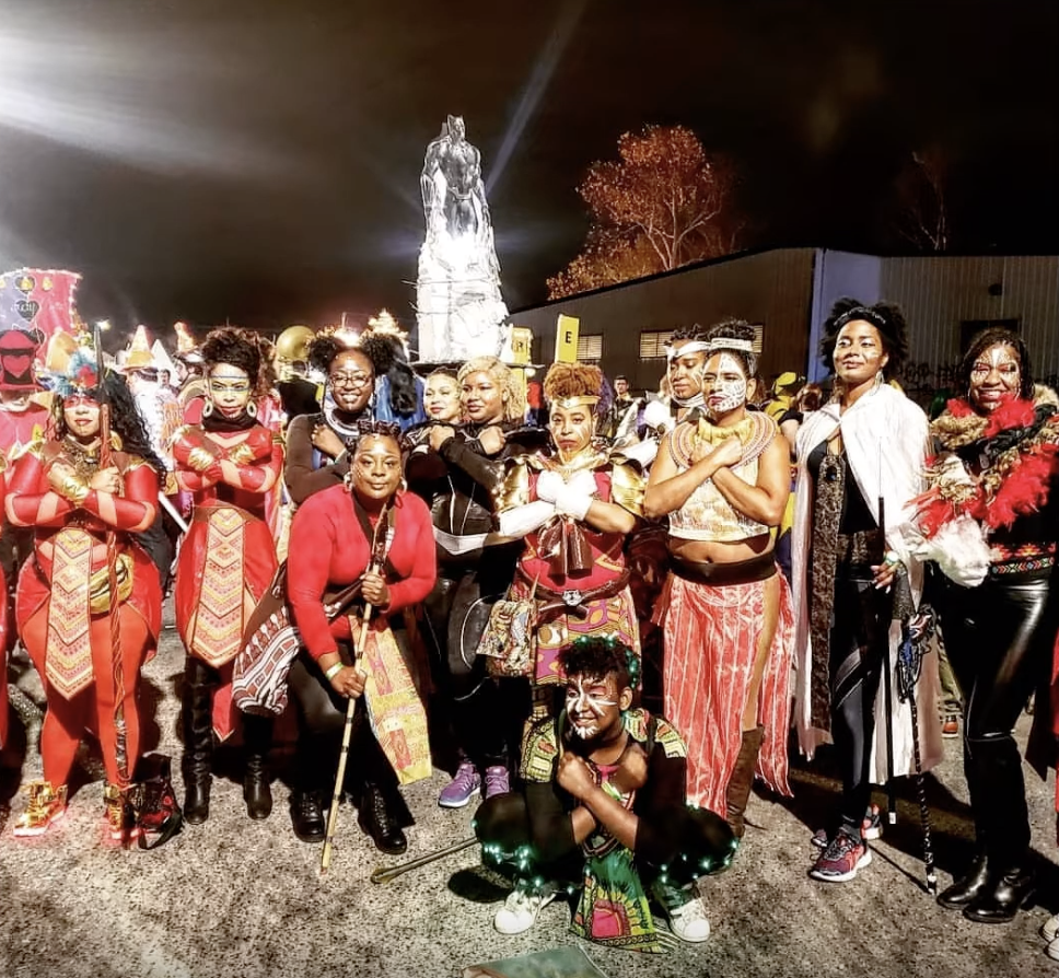 The Krewe of Women of Wakanda. The krewe formed based off of a love of the movie