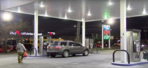 Stolen car tracked down by journalist after gas station theft