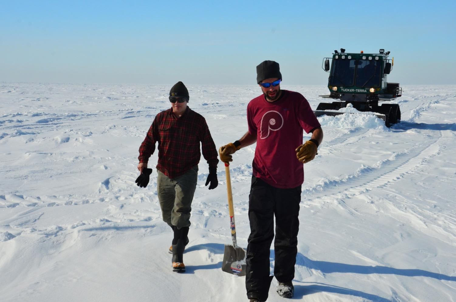 Loyola science professor Philip Bucolo conducts research in Antartica at Palmer Station. Bucolo's studies include aquatic community ecology. Courtesy of Philip Bucolo.