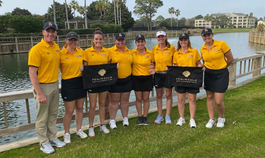 The+Wolf+Pack+women%27s+golf+team+is+all+smiles+after+winning+the+Georgetown+College+Invitational.++The+Wolf+Pack+are+back+in+action+later+this+month+when+they+host+the+Loyola+Wolf+Pack+Spring+Invitational+March+23-24.