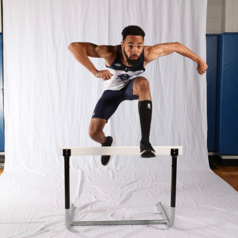 Harrison Charles Coleman, a track-and-field athlete at UNO poses for a photoshoot. Coleman was looking forward to the rest of his junior season as a hurdles runner before the COVID-19 outbreak cut the collegiate athletics season short.