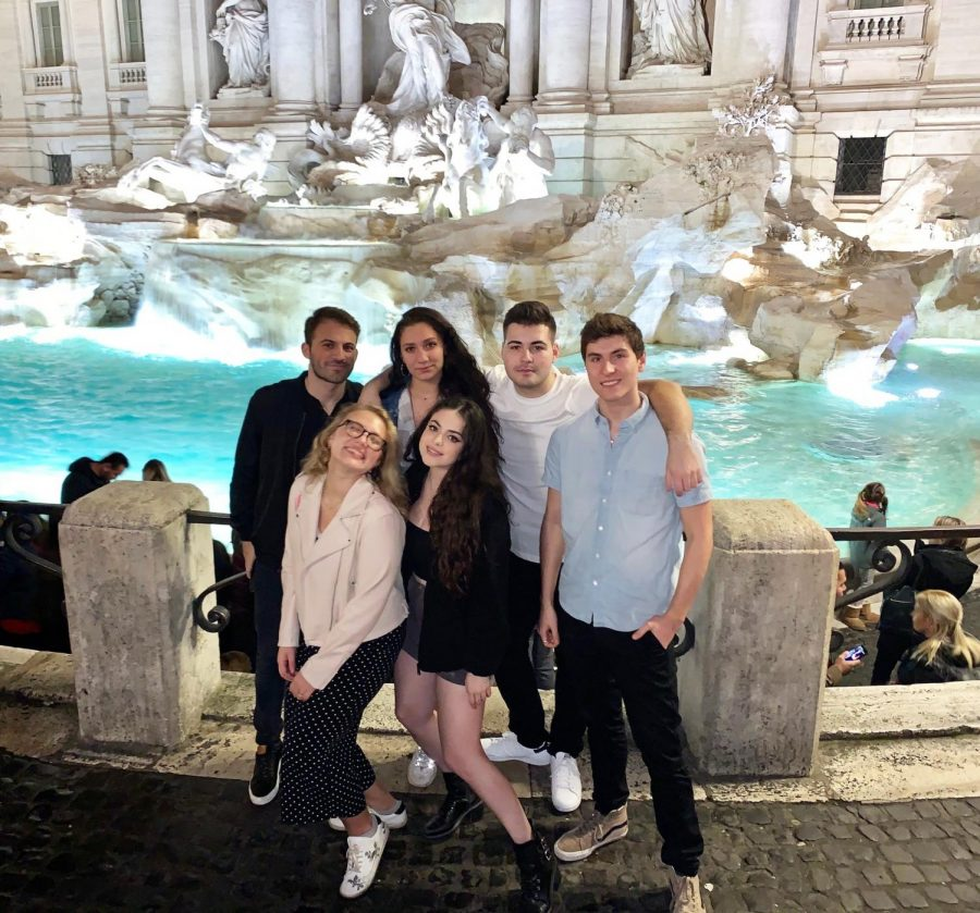 Junior Robert Prasso poses by the Trevi Fountain in Rome, Italy. Passo was one of the students abroad sent home due to the coronavirus. Photo courtesy of Robert Passo.