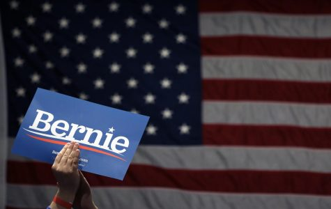 FILE - In this March 9, 2020, file photo a supporter of Democratic presidential candidate Sen. Bernie Sanders, I-Vt., applauds as Sanders speaks during a campaign rally in St. Louis. (AP Photo/Jeff Roberson, File)