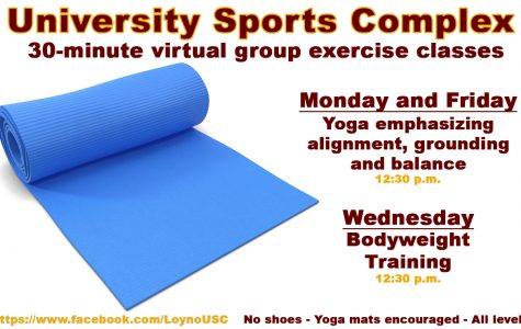 University Sports Complex offers online exercise classes