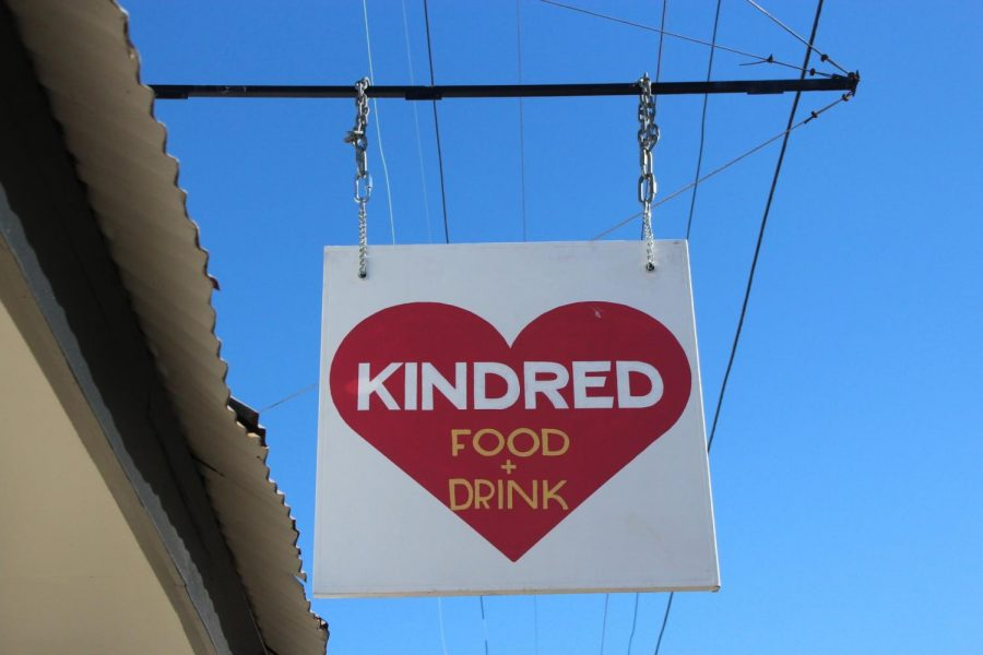 A+business+sign+for+Kindred%2C+a+New+Orleans+restaurant%2C+hangs+outside