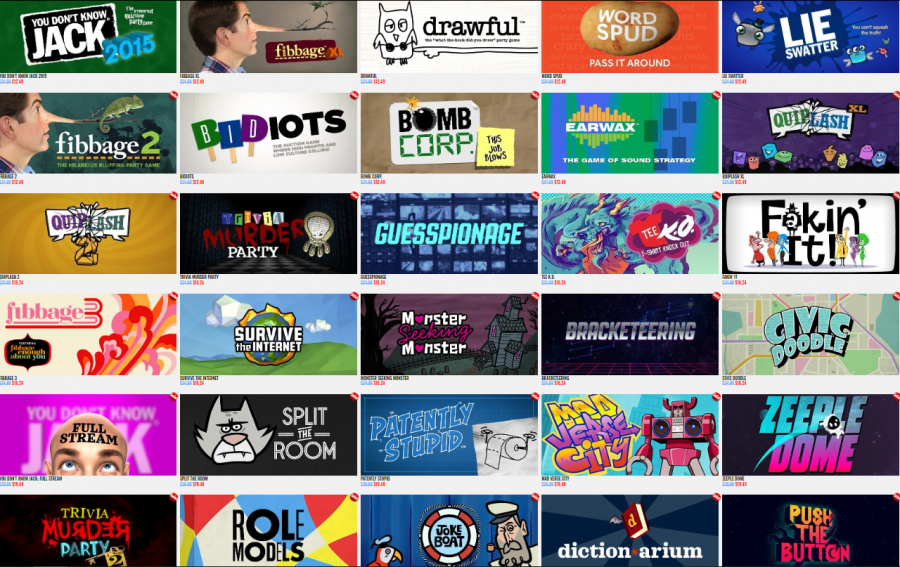 This photo is a screenshot of Jackbox Games, one of the ways you can hang out with your friends virtually.