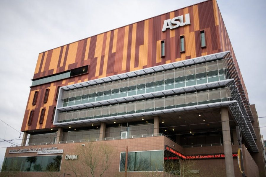 Arizona State University's Walter Cronkite School of Journalism and Mass Communication building is pictured on Wednesday, March 20, 2019. ASU students are petitioning for the removal of incoming ASU dean and outgoing Loyola director Sonya Duhé after allegations by former Loyola students of racist and insensitive behavior came to light earlier this week.