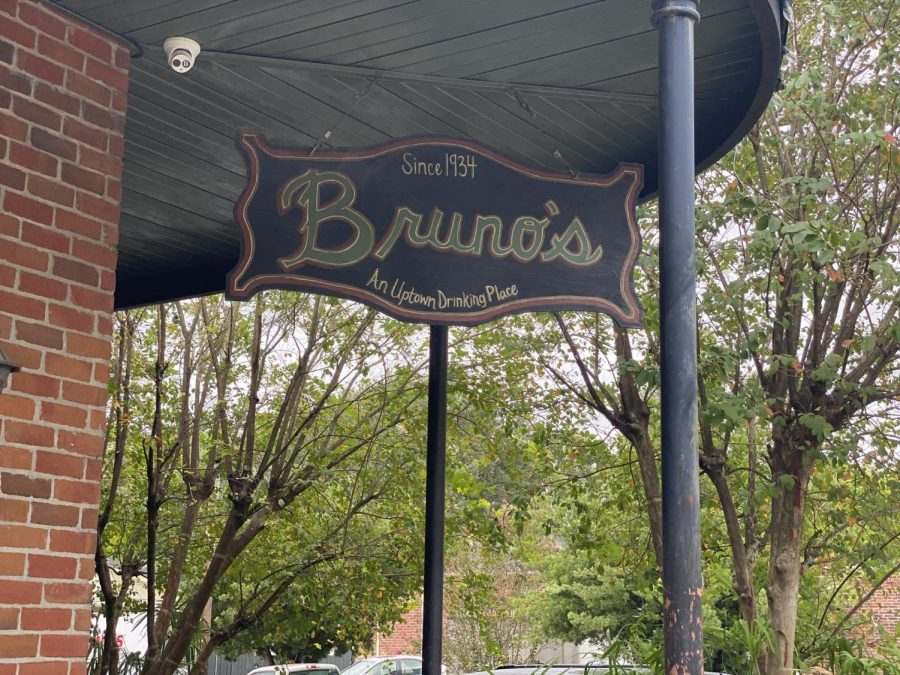 A+sign+hangs+outside+of+Bruno%27s+Tavern+on+Aug.+22.+Bruno%27s+is+one+of+many+bars+in+New+Orleans+that+is+struggling+with+new+restrictions+due+to+COVID-19.+Photo+credit%3A+Shadera+Moore